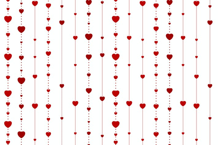 Thumbnail for Red abstract hearts on white vector background