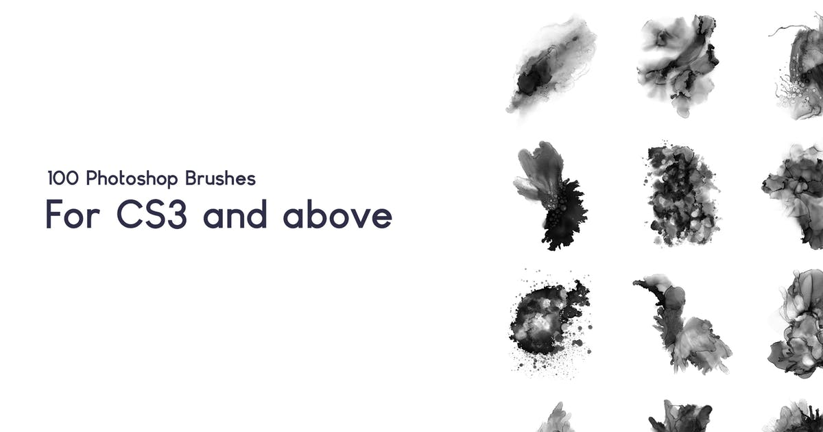 Download 100 Watercolor Ink Photoshop Brushes Vol 2 by sevenstyles