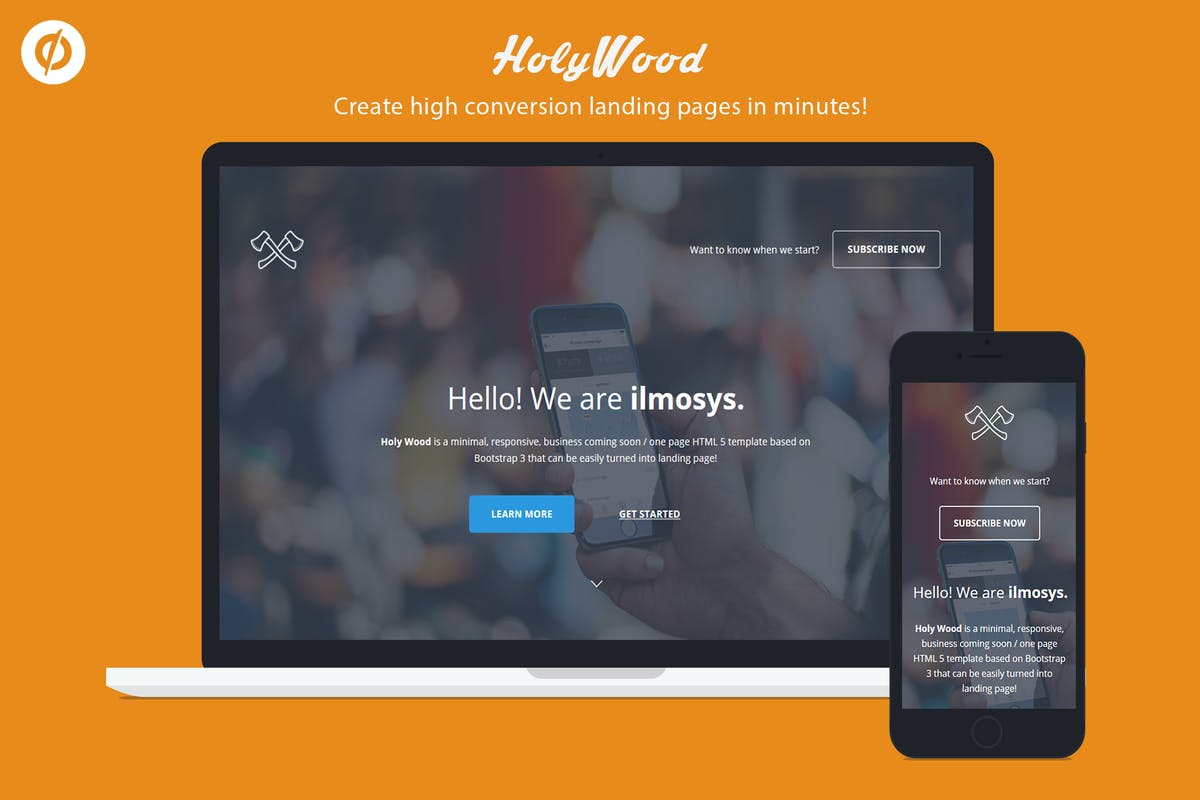 Download Unbounce Multipurpose Landing Page - Holy Wood by ILMThemes by Unknow