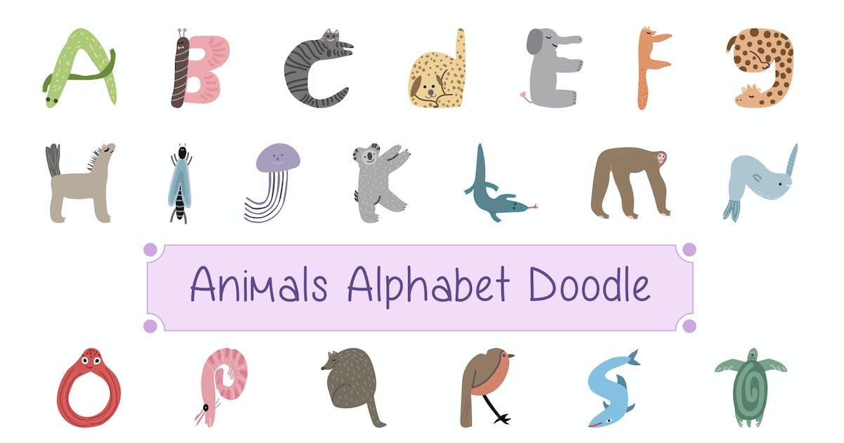 Download Animals Alphabet Doodle by vintagio