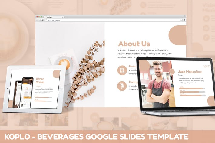 Thumbnail for Koplo - Напитки Google Слайды Шаблон