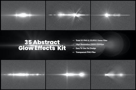 35 Kit de luz de efecto luminoso personalizado y destello de lente V-1