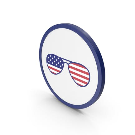 Icon Glass With American Flag