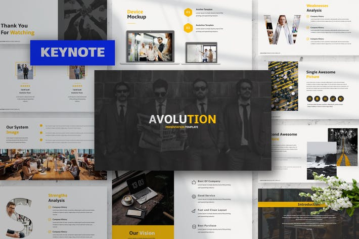 Thumbnail for Avolution Keynote Presentation Template