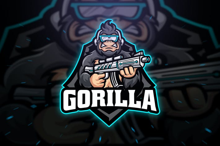 Thumbnail for Gorilla Sniper Sport and Esport Logo Template