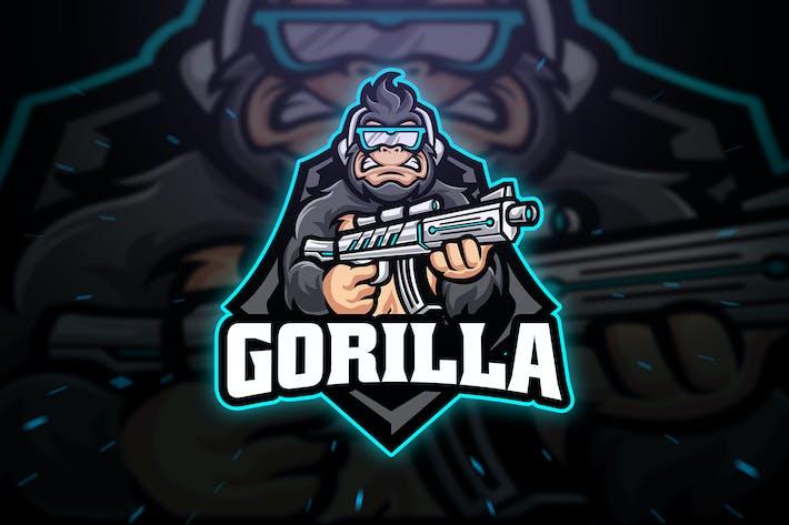 Thumbnail for Gorilla Sniper Sport and Esport Logo Template
