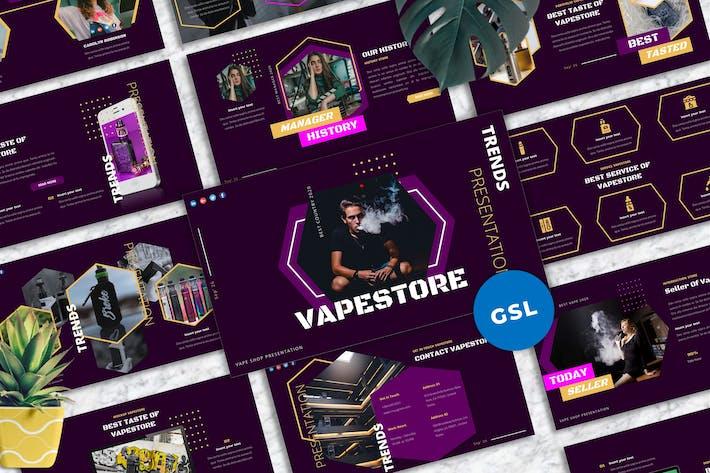 Thumbnail for Vapestore - Vape & Vapor Googleslide Templates