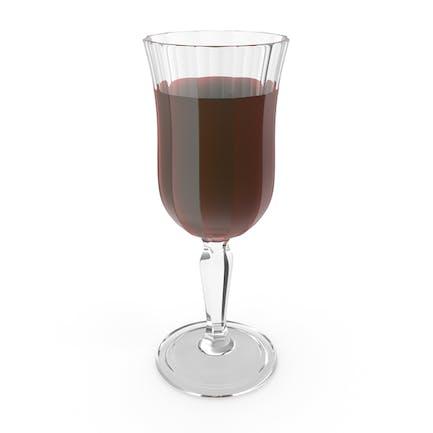 Geschnitztes Glas mit Wein