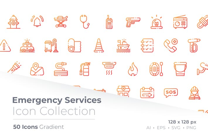 Emergency Service Gradient Icon