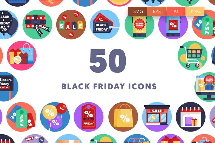Thumbnail for 50 Black Friday Icons