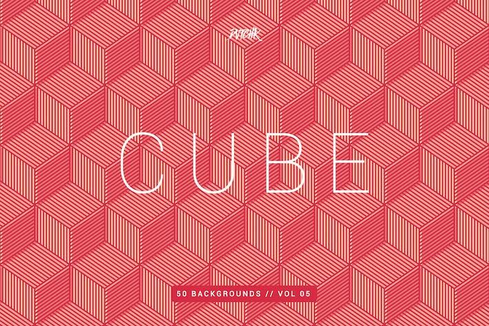 Cube| Nahtlose geometrische Hintergründe | Vol. 05