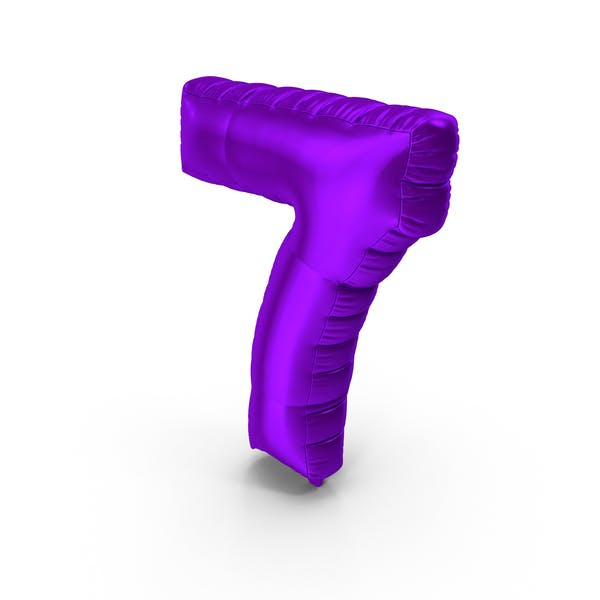 Thumbnail for Foil Balloon Number 7 Purple