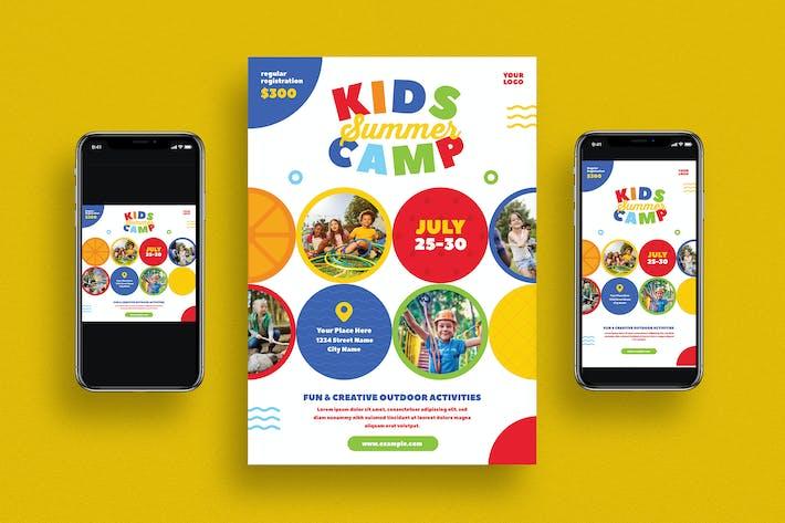 Thumbnail for Kids Summer Camp Flyer Set