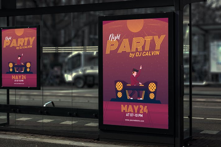 Thumbnail for Night Party - Creative Poster GR