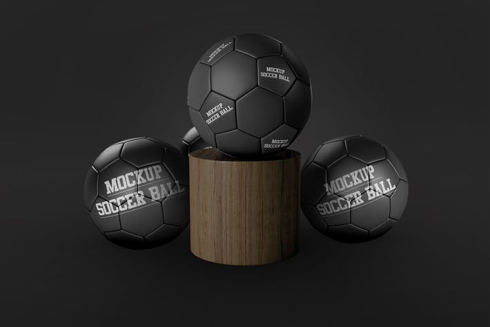Thumbnail for Soccer Balls Mockup