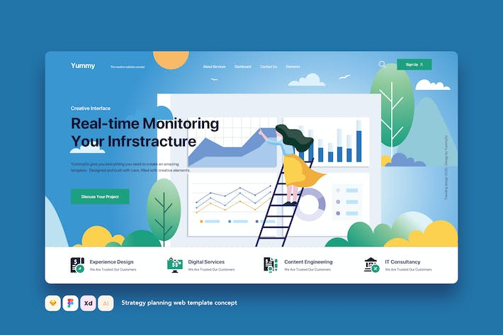 Thumbnail for Strategy planning web template concept