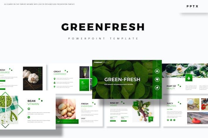 Thumbnail for Зеленый свежий - Powerpoint Шаблон