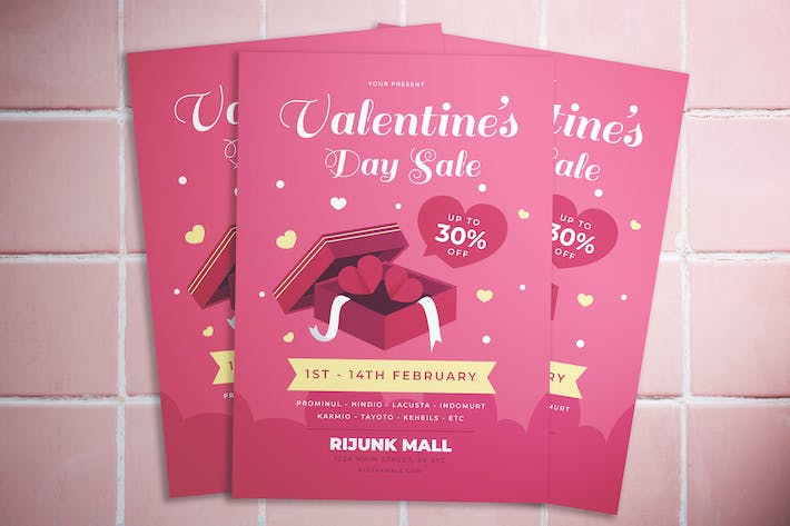 Thumbnail for Valentine Day Sale Flyer