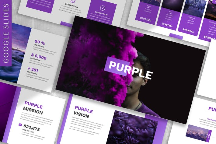 Thumbnail for Purple - Business Google Slide Template