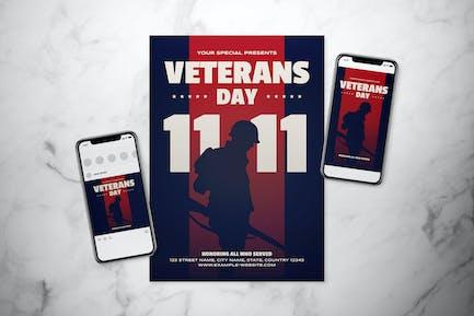 Veterans Day Flyer Set