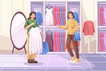 Women's Clothing Illustration