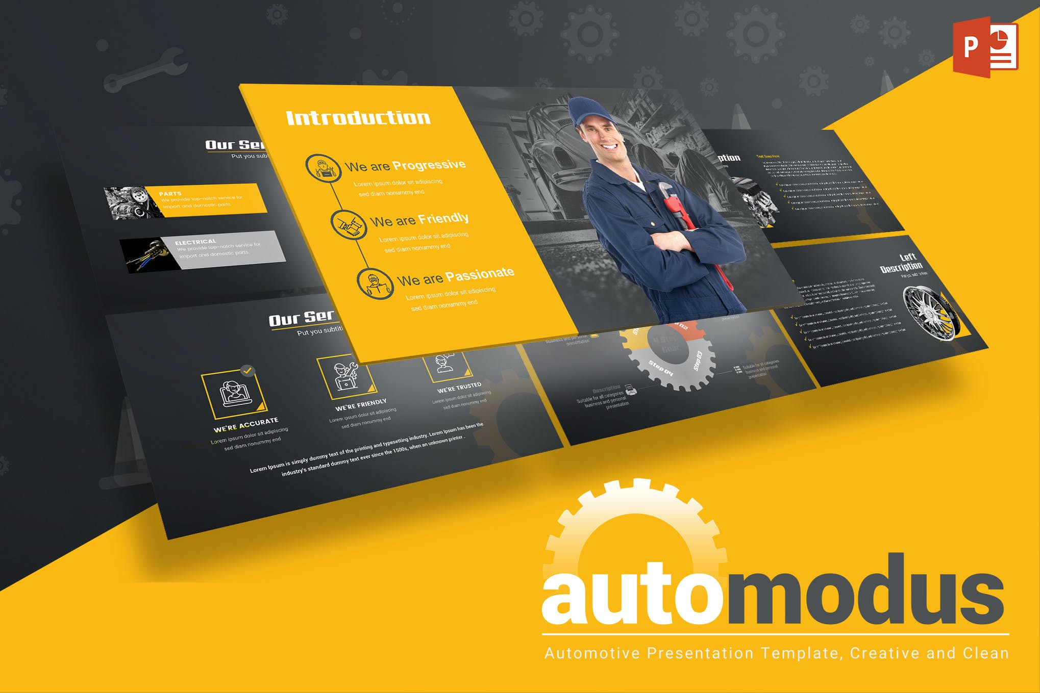 Automodus Automotive Powerpoint Template By Inspirasign On Envato