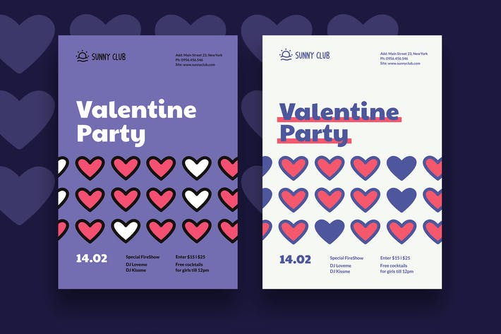 Thumbnail for Valentine Party Poster