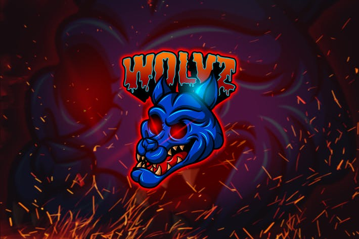 Thumbnail for Wolvz - Esports Mascot Logo YR