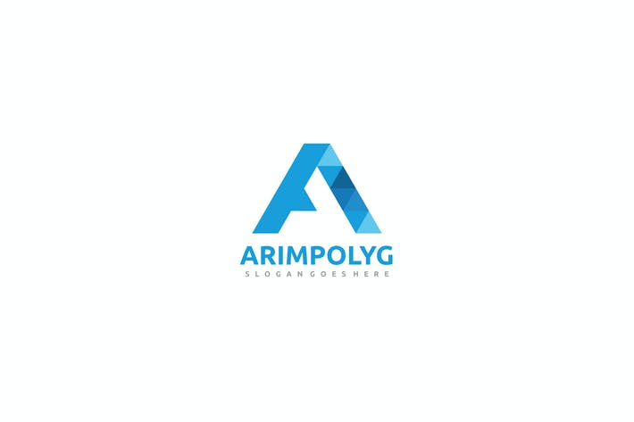 A Letter-Polygonal Logo