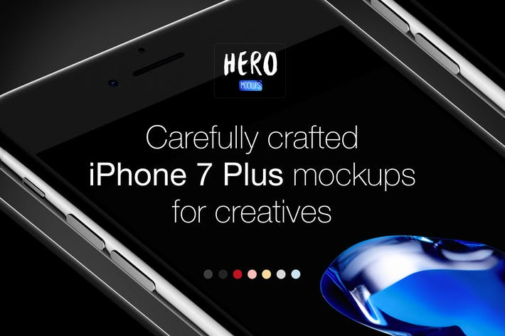 Thumbnail for Mockups HERO Phone 7 Plus