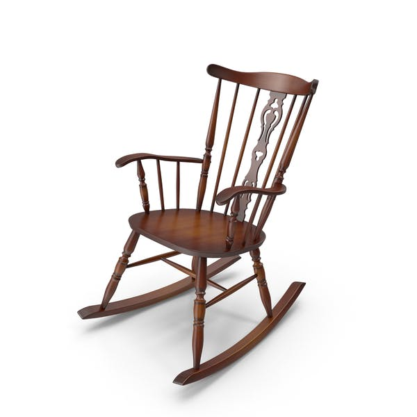 Thumbnail for Vintage Wooden Rocking Chair