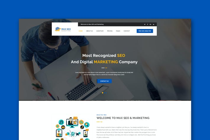Cover Image For Max Seo - Seo & Marketing HTML Template