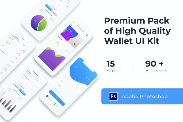 Thumbnail for Wallet UI KIT for Photoshop