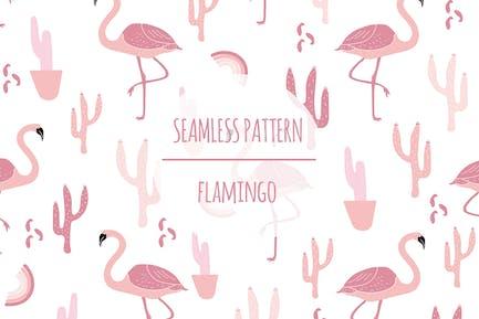 Flamingo — Nahtloses Muster