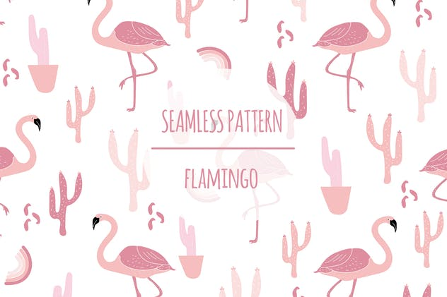 Flamingo – Seamless Pattern - product preview 0