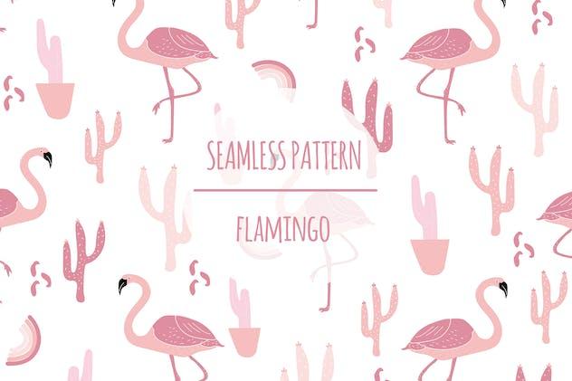 Flamingo – Seamless Pattern