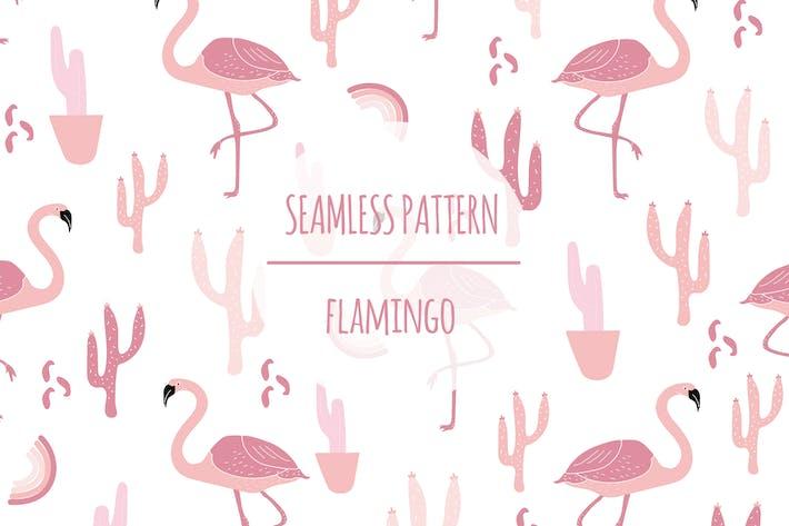 Thumbnail for Flamingo — Patrón sin costuras