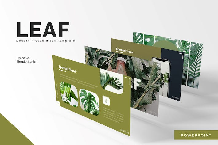 Thumbnail for Leaf - Powerpoint Template