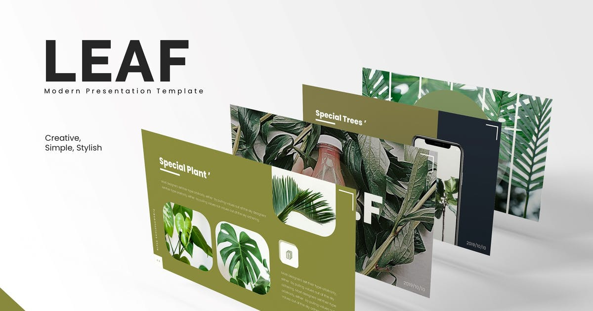 Download Leaf - Powerpoint Template by vincentllora