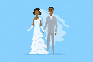 Wedding - cartoon people characters