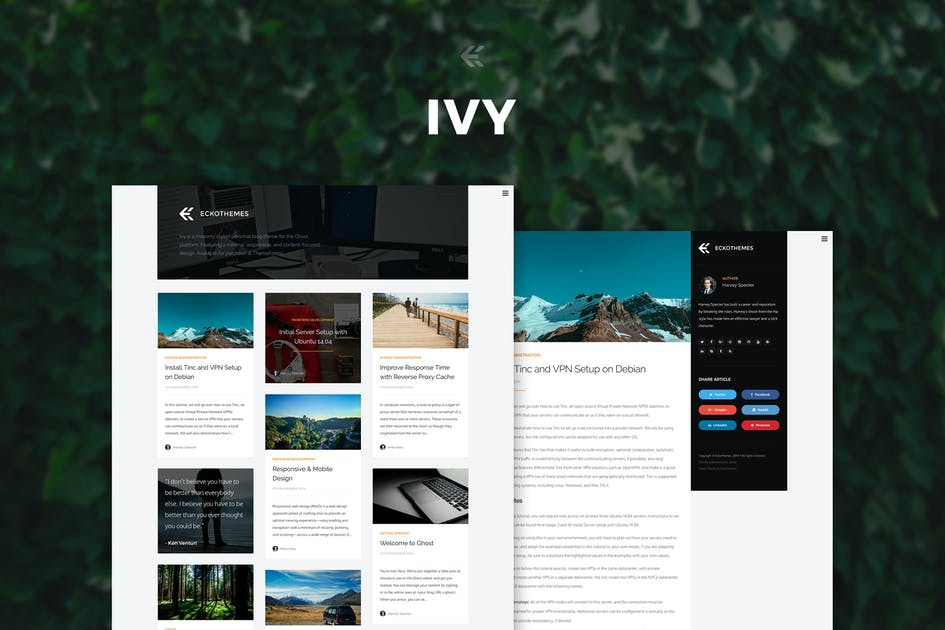 Download Ivy - Responsive Ghost Theme by EckoThemes