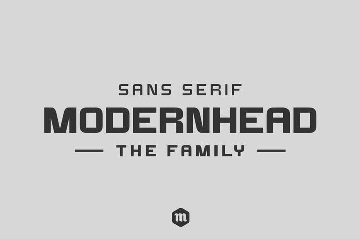 Thumbnail for Modernhead Typeface