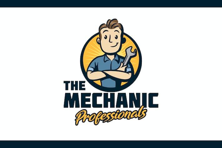 Thumbnail for Retro Cartoon Mechanic Folding Arms Mascot Logo