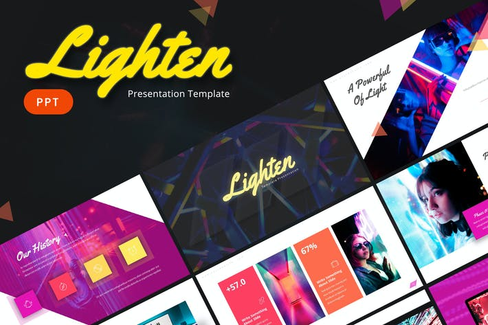Thumbnail for Lighten - Powerpoint Template