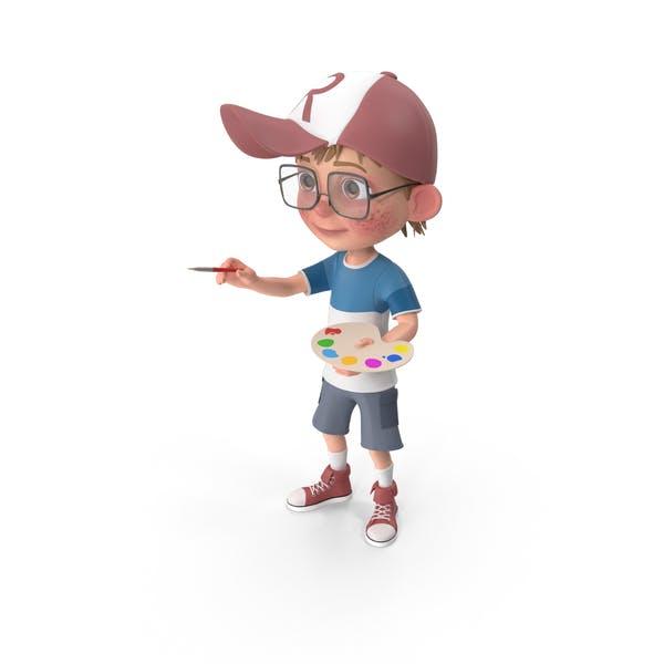 Thumbnail for Cartoon Boy Harry Painting