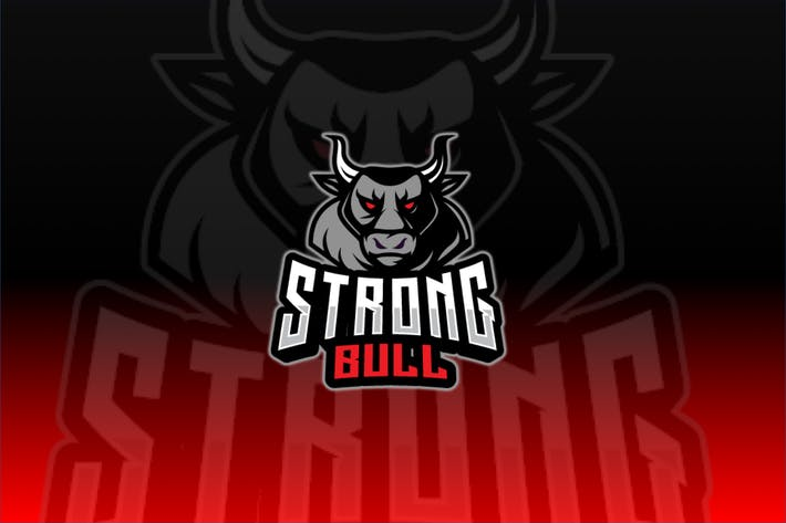Strong Bull Sport and Esport Logo Template
