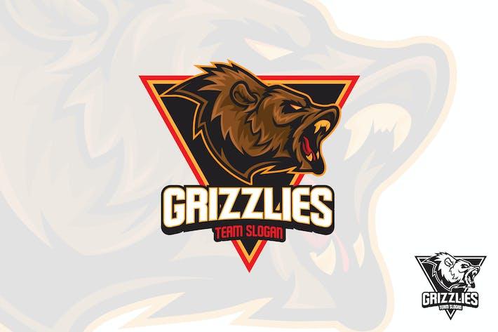 Thumbnail for Bear Roar Esports  Logo Mascot