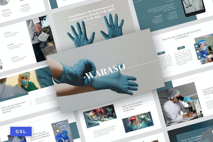 Thumbnail for Waraso - Medical Service Google Slide Template