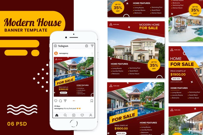 Thumbnail for House Banner Instagram Stories Templates