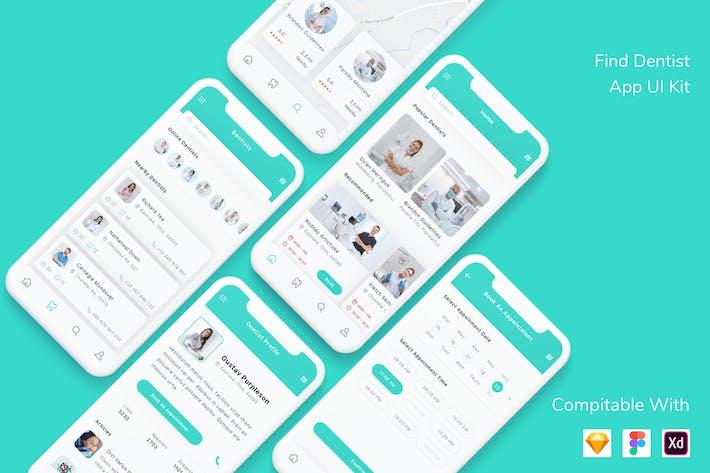 Thumbnail for Find Dentist App UI Kit